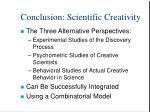 conclusion scientific creativity
