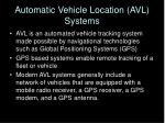 automatic vehicle location avl systems