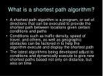 what is a shortest path algorithm