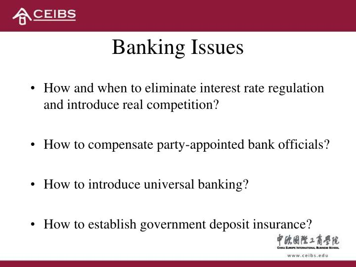 Banking Issues