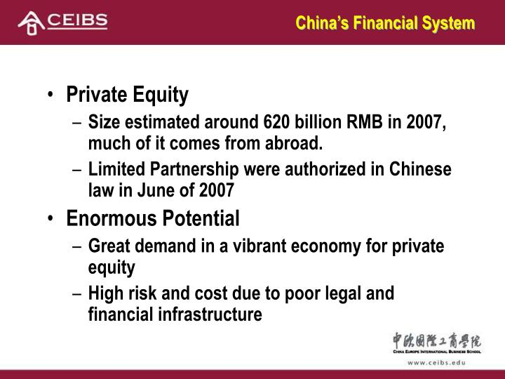 China's Financial System