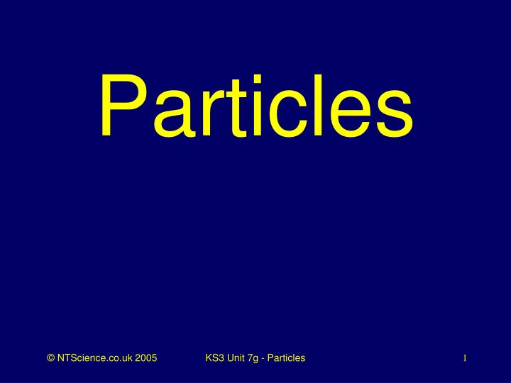 particles n.