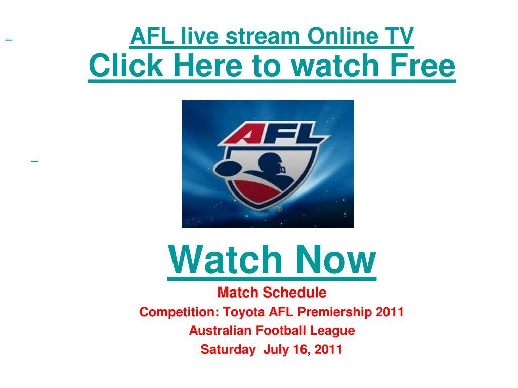 PPT - watch carlton vs collingwood afl premiership 2011 live