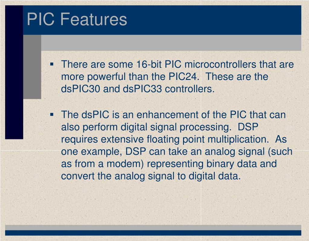 PPT - CMPT 229 – PIC Microcontroller PowerPoint Presentation - ID