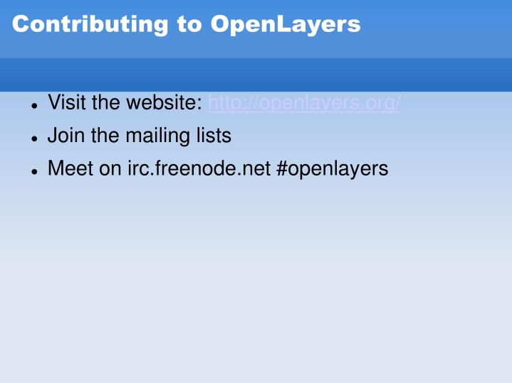 Contributing to OpenLayers