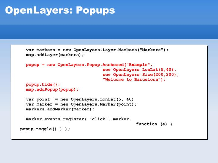 """var markers = new OpenLayers.Layer.Markers(""""Markers"""");"""