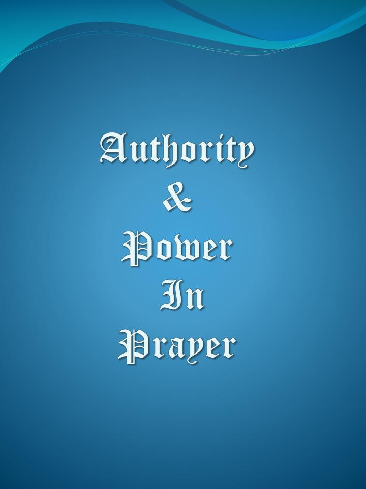 authority power in prayer n.