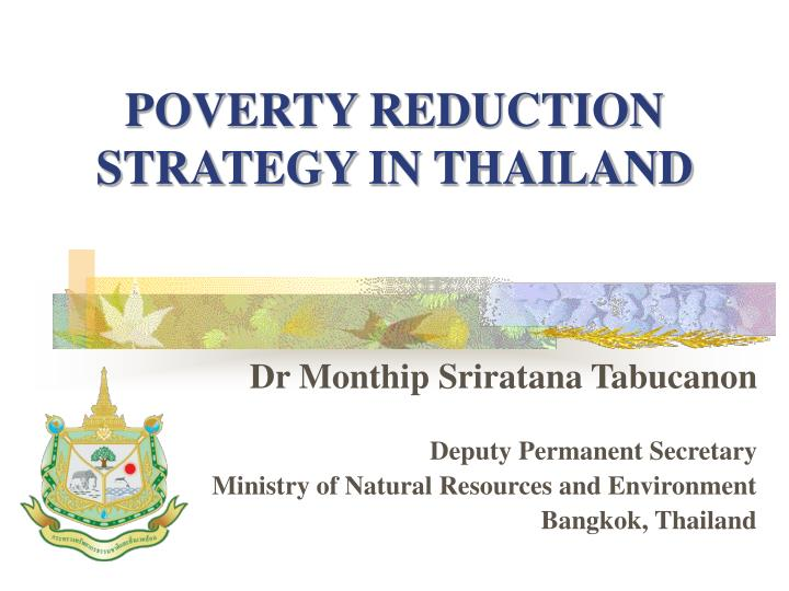 poverty reduction strategy in thailand n.