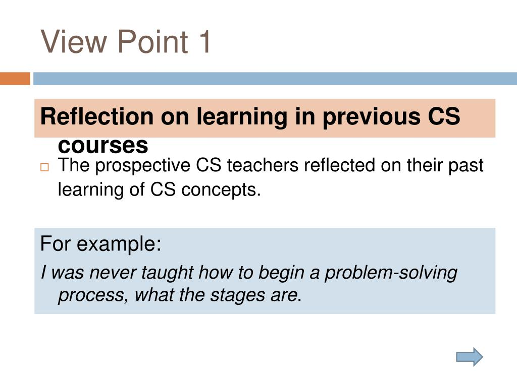 PPT - A Reflective Practitioner's Perspective on Computer Science