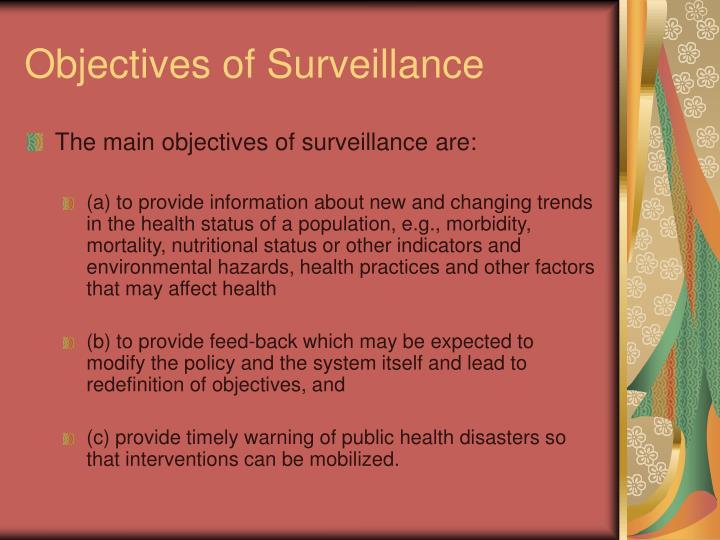 Objectives of Surveillance
