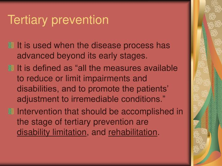 Tertiary prevention