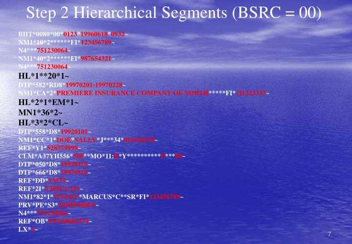 Step 2 Hierarchical Segments (BSRC = 00)