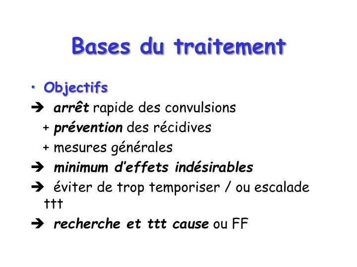 Bases du traitement