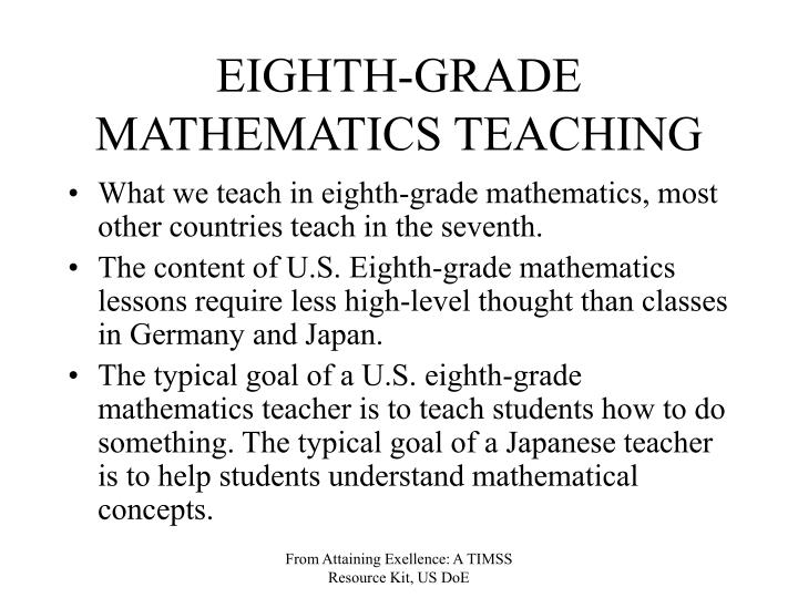 EIGHTH-GRADE MATHEMATICS TEACHING