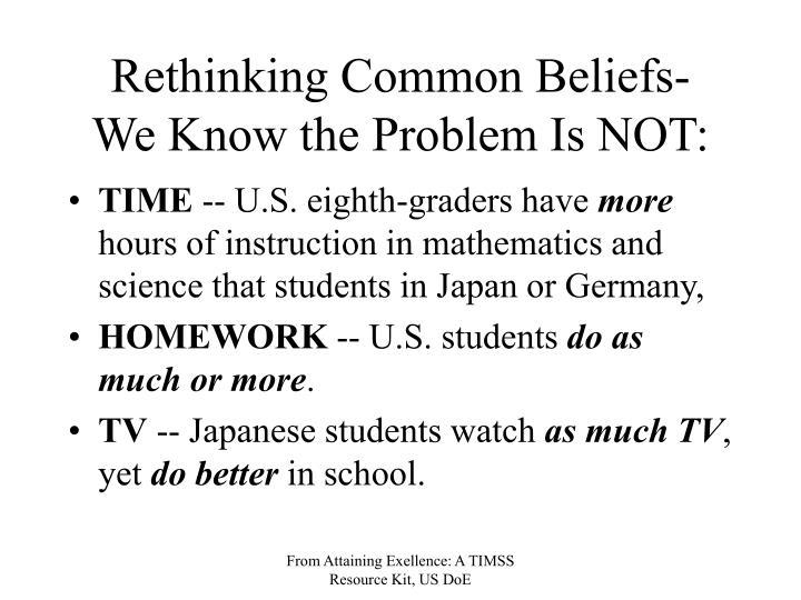 Rethinking Common Beliefs-