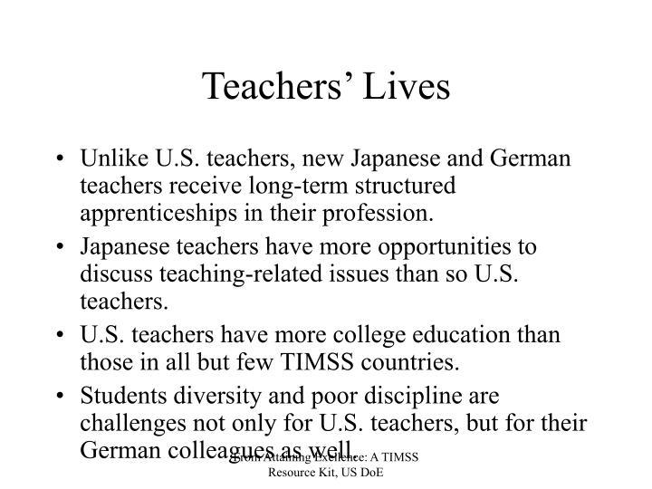 Teachers' Lives