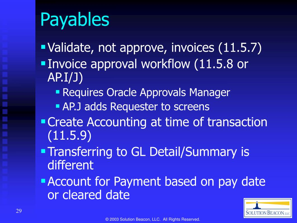 PPT - Oracle Applications Release 11i Financials New