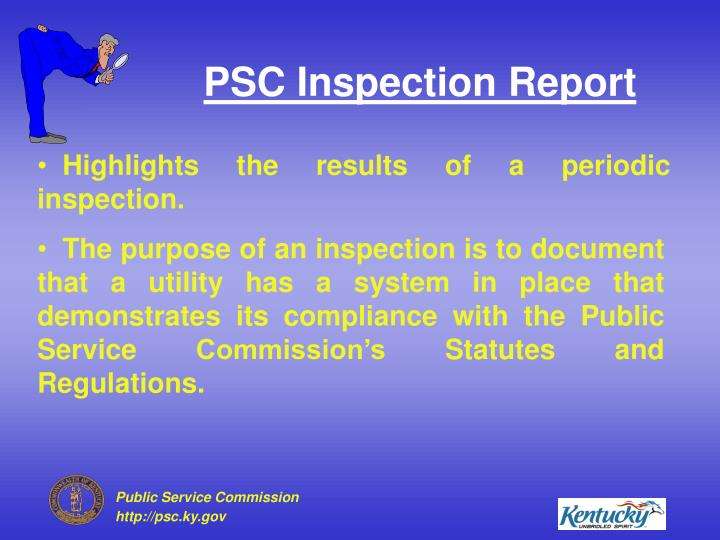 Psc inspection report1