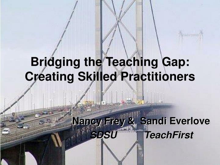 bridging the teaching gap creating skilled practitioners n.
