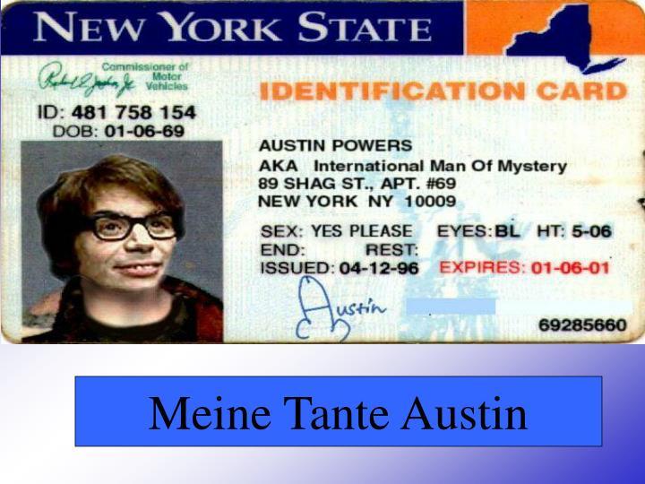 Meine Tante Austin