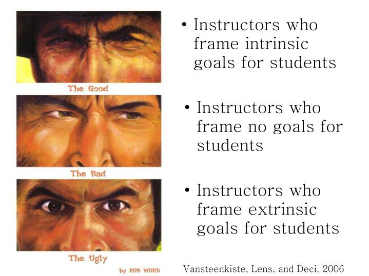 Instructors who frame no goals for students