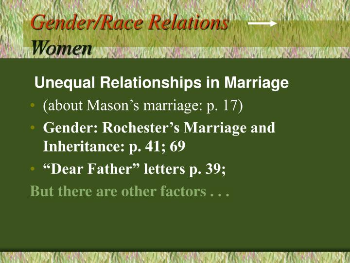 Gender/Race Relations