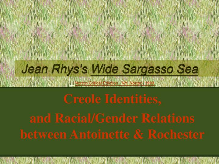 Jean rhys s wide sargasso sea