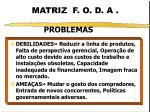 matriz f o d a1