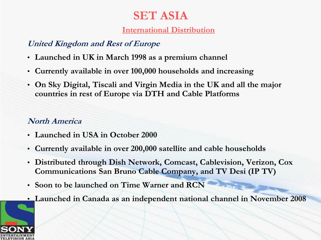 PPT - Sony Entertainment Television Asia 2009 PowerPoint
