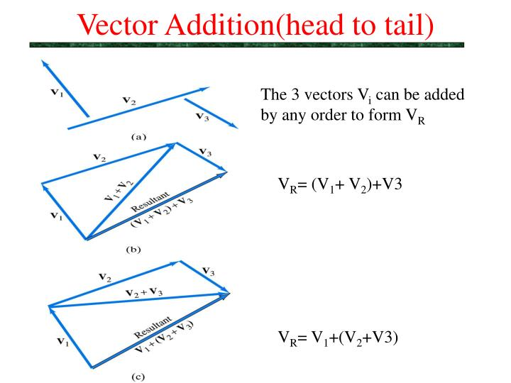 Vector Addition(head to tail)
