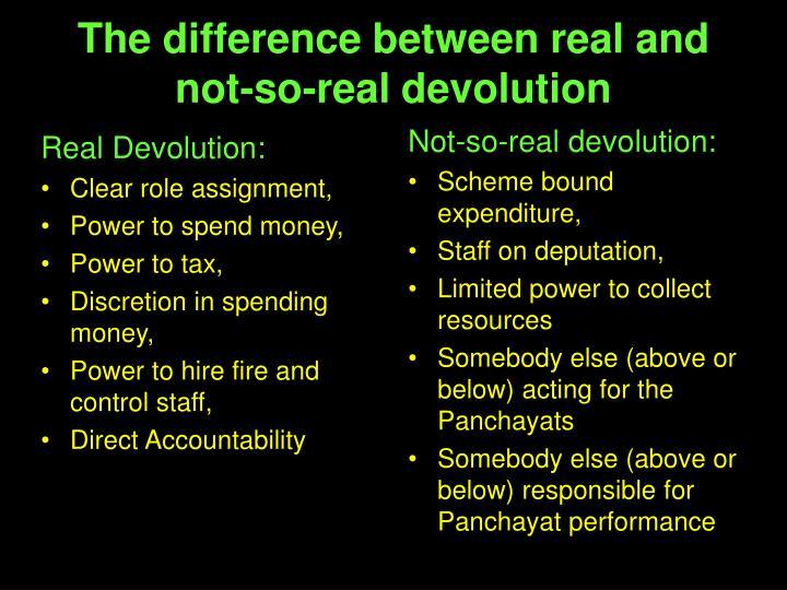 Real Devolution: