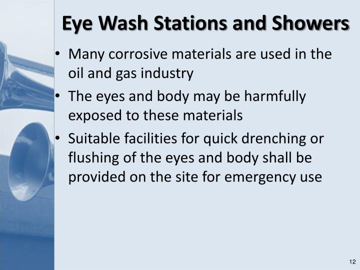 Eye Wash Stations and Showers