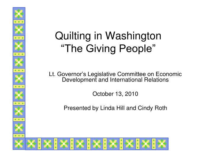 quilting in washington the giving people n.