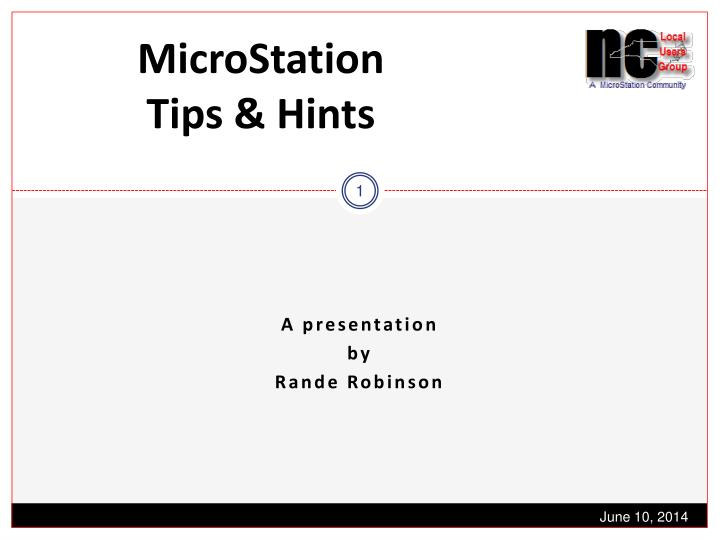 microstation tips hints n.