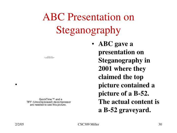 ABC Presentation on Steganography