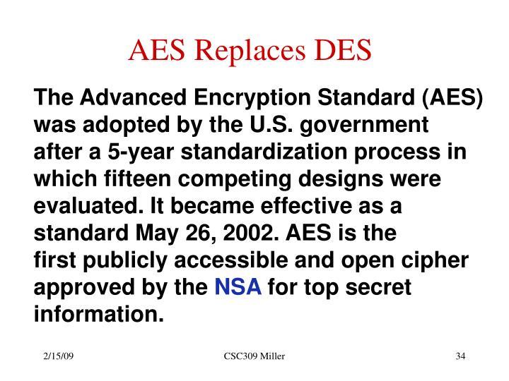 AES Replaces DES