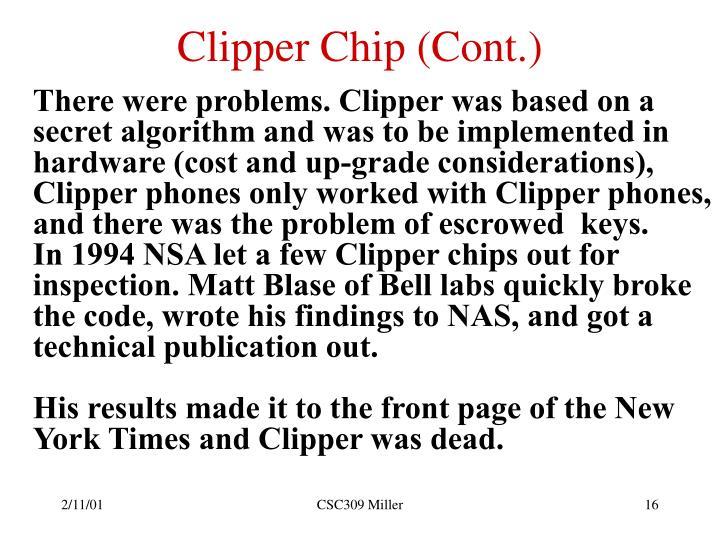 Clipper Chip (Cont.)