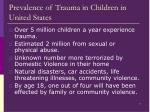 prevalence of trauma in children in united states