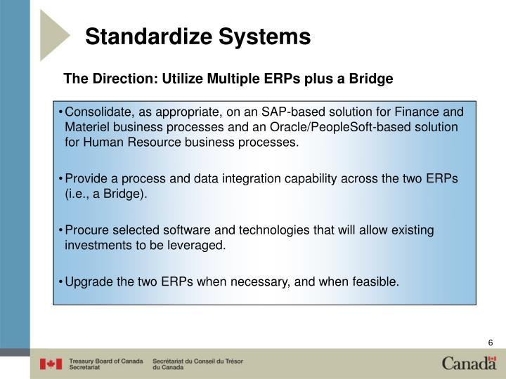 Standardize Systems