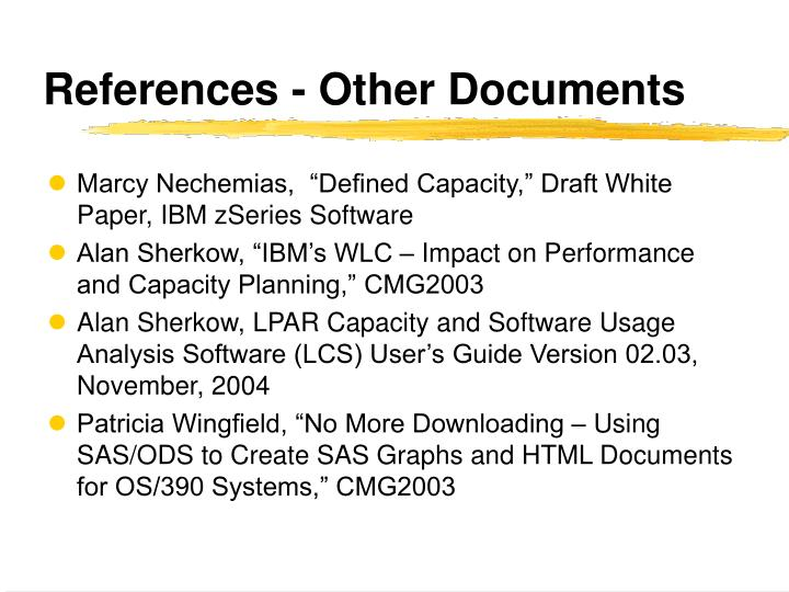References - Other Documents