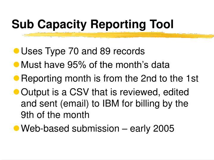 Sub Capacity Reporting Tool