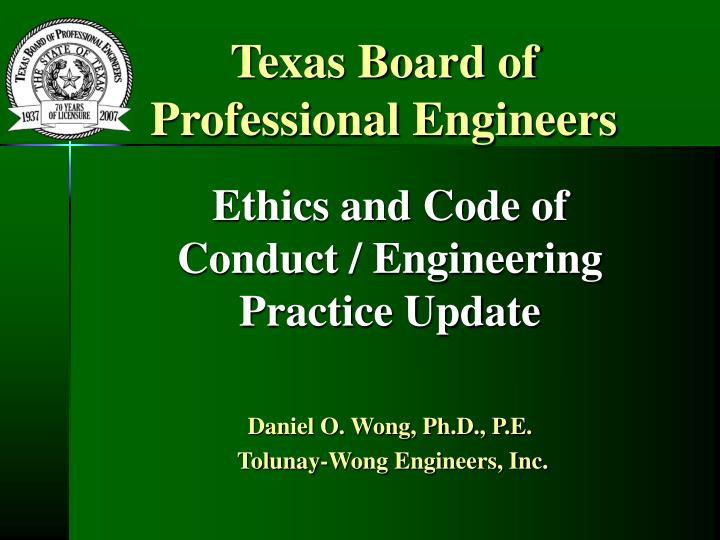 texas board of professional engineers