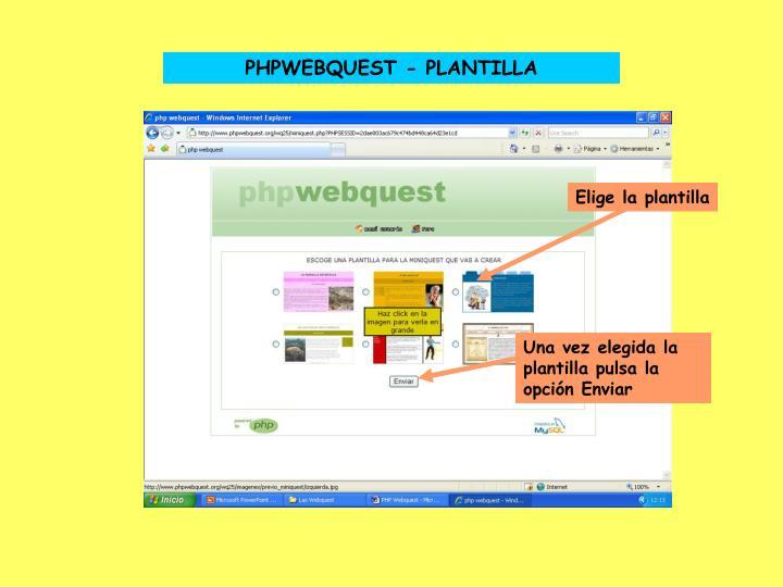 PHPWEBQUEST - PLANTILLA
