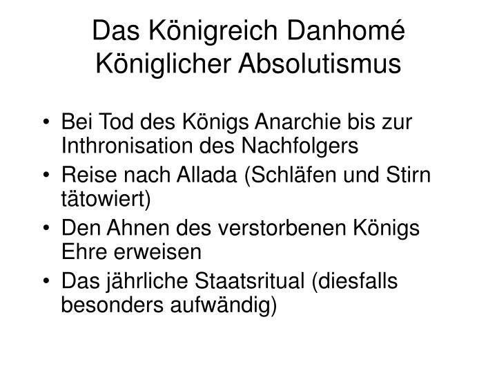 Das Königreich Danhomé
