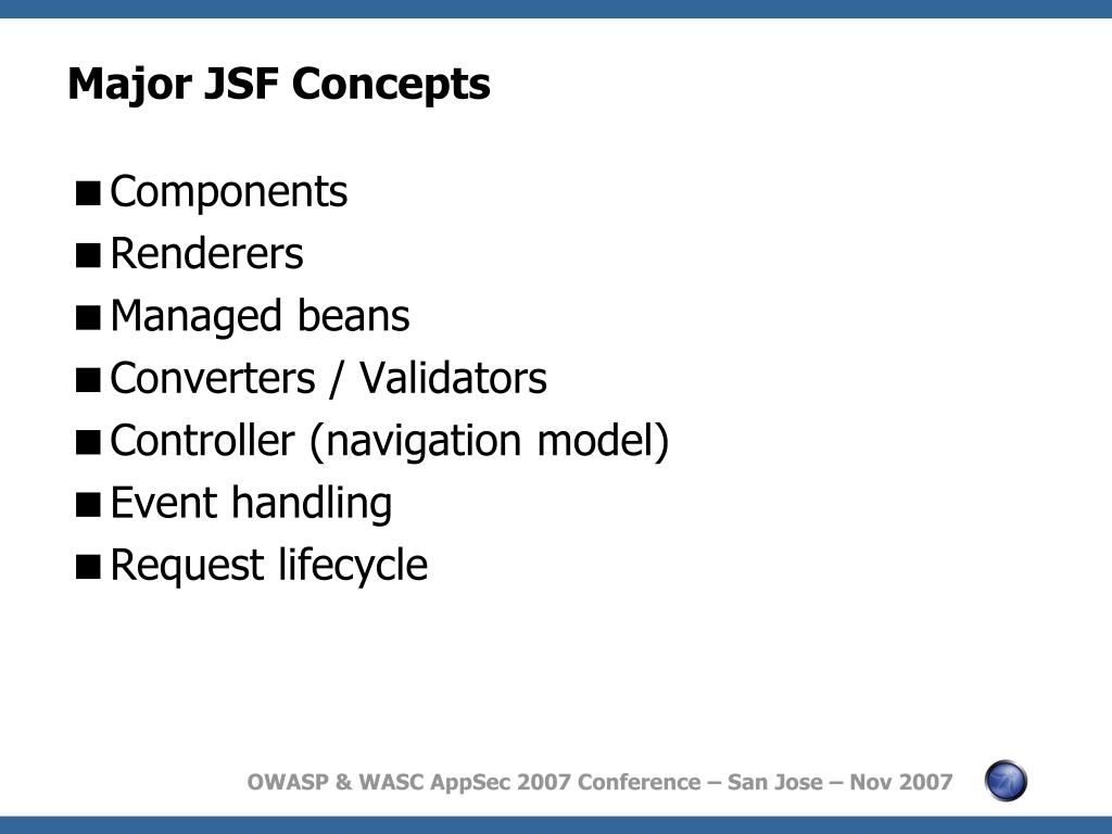 PPT - Securing JSF Applications Against the OWASP Top Ten