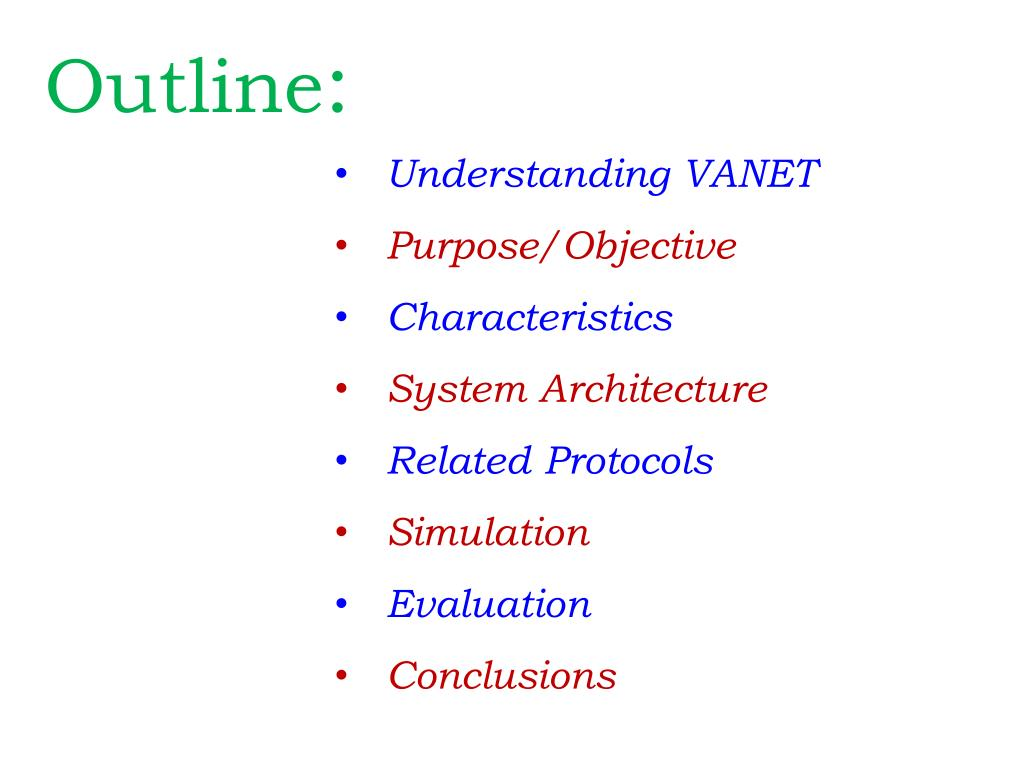 PPT - VANET PowerPoint Presentation - ID:1308472