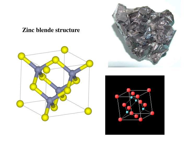 Zinc blende structure