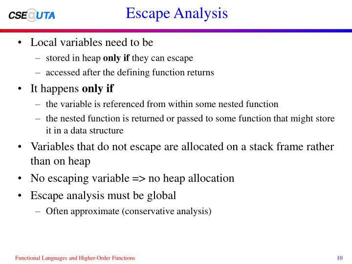 Escape Analysis