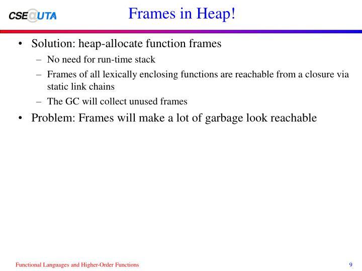 Frames in Heap!