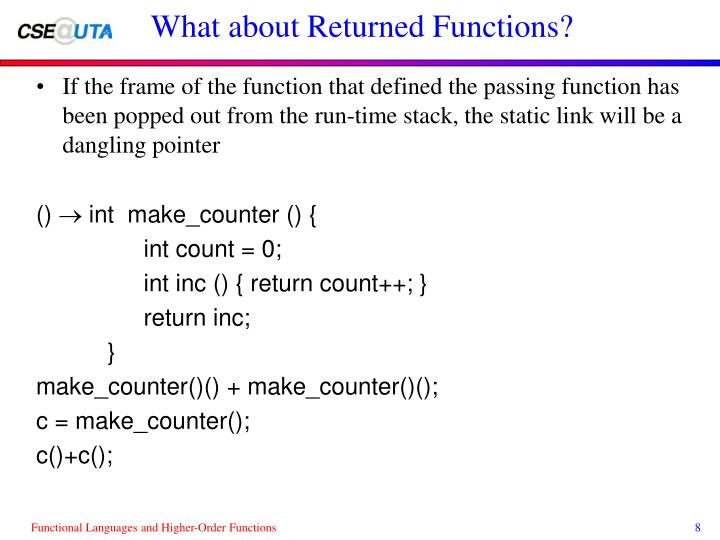 What about Returned Functions?